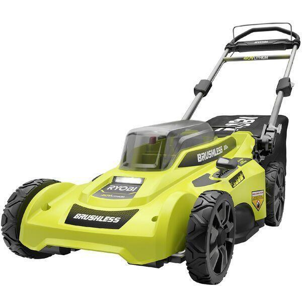 """<p><strong>Ryobi 20 Inch 40-Volt Mower</strong></p><p>homedepot.com</p><p><strong>$299.00</strong></p><p><a href=""""https://go.redirectingat.com?id=74968X1596630&url=https%3A%2F%2Fwww.homedepot.com%2Fp%2FRYOBI-20-in-40-Volt-Brushless-Lithium-Ion-Cordless-Battery-Walk-Behind-Push-Lawn-Mower-6-0-Ah-Battery-Charger-Included-RY401110-Y%2F311084745&sref=https%3A%2F%2Fwww.countryliving.com%2Fgardening%2Fgarden-ideas%2Fg36558182%2Fbest-lawn-mowers%2F"""" rel=""""nofollow noopener"""" target=""""_blank"""" data-ylk=""""slk:Shop Now"""" class=""""link rapid-noclick-resp"""">Shop Now</a></p><p>""""We were a little nervous about going the battery-powered route, but we love this Ryobi lawn mower. It's quiet so you don't have to worry about waking the neighbors, and you'll never have to run to the gas station mid-mow! The 40v battery is interchangeable with other Ryobi lawn tools, like a leaf blower and trimmer. The only downside is the battery charge lasts about 45 minutes. It works for us but is something to consider if you have a bigger yard."""" </p><p>— Deputy Managing Editor, Katie Bowlby</p>"""
