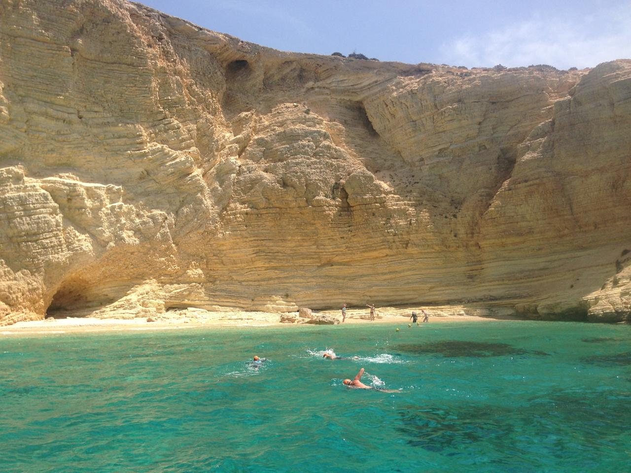 """<p>Dive into an island-hopping trip – where you swim between different isles. <a rel=""""nofollow"""" href=""""https://www.swimtrek.com/packages/swimming-holiday-greek-cyclades"""">SwimTrek</a> offer open-water swimming holidays in some incredible locations, including the Greek Cyclades, where you'll criss-cross your way between five different islands, splashing through tunnels and caves. Sailing and exploring islands on foot are also part of the trip. Seven nights B&B including most meals, swimming coaching and guiding costs from £980, departing September 16. Excludes flights.<br /><i>[Photo: SwimTrek]</i> </p>"""
