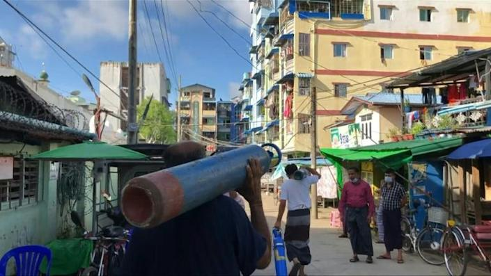Desperate search for oxygen in Myanmar as latest Covid wave hits