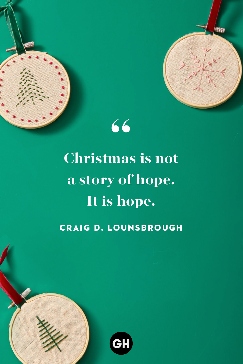 <p>Christmas is not a story of hope. It is hope.</p>