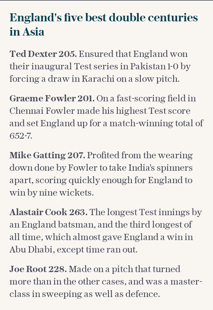 England's five best double centuries in Asia