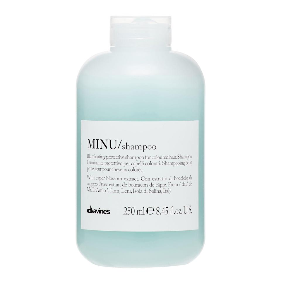 """<p><strong>Davines</strong></p><p>amazon.com</p><p><strong>$30.00</strong></p><p><a href=""""https://www.amazon.com/dp/B00OKME7S0?tag=syn-yahoo-20&ascsubtag=%5Bartid%7C10056.g.37059982%5Bsrc%7Cyahoo-us"""" rel=""""nofollow noopener"""" target=""""_blank"""" data-ylk=""""slk:Shop Now"""" class=""""link rapid-noclick-resp"""">Shop Now</a></p><p>""""I love the Davines Minu line,"""" says Brown, who adds that the brand """"also has shampoos and conditioners for each color.""""</p>"""
