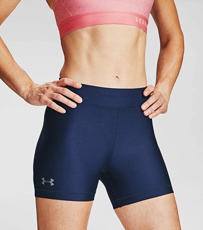 Under Armour Womens HeatGear Middy Shorts. Image via Amazon