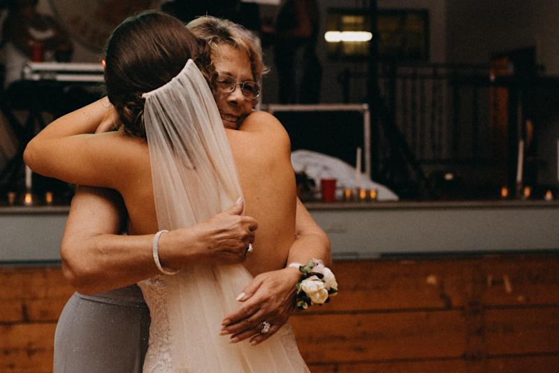 Brittany was so grateful to have her grandma in attendance on the big day.  (Copper + Pine)