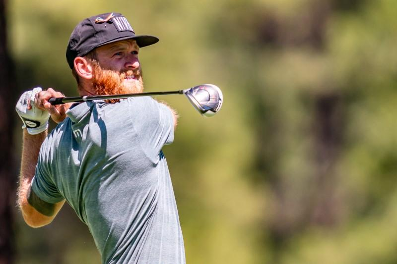 Golf-McCumber finishes with four-way share of lead in Dominican Republic