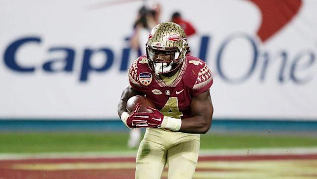 """Can <a class=""""link rapid-noclick-resp"""" href=""""/ncaaf/players/239542/"""" data-ylk=""""slk:Dalvin Cook"""">Dalvin Cook</a> succeed on and off the field? (Photo by Marc Serota/Getty Images)"""