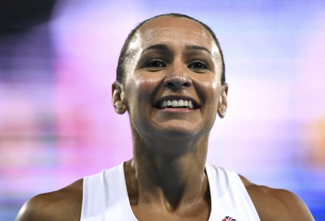 2016 Rio Olympics - Athletics - Final - Women's Heptathlon 800m - Olympic Stadium - Rio de Janeiro, Brazil - 13/08/2016. Jessica Ennis-Hill (GBR) of Britain reacts after the race REUTERS/Dylan Martinez FOR EDITORIAL USE ONLY. NOT FOR SALE FOR MARKETING OR ADVERTISING CAMPAIGNS.