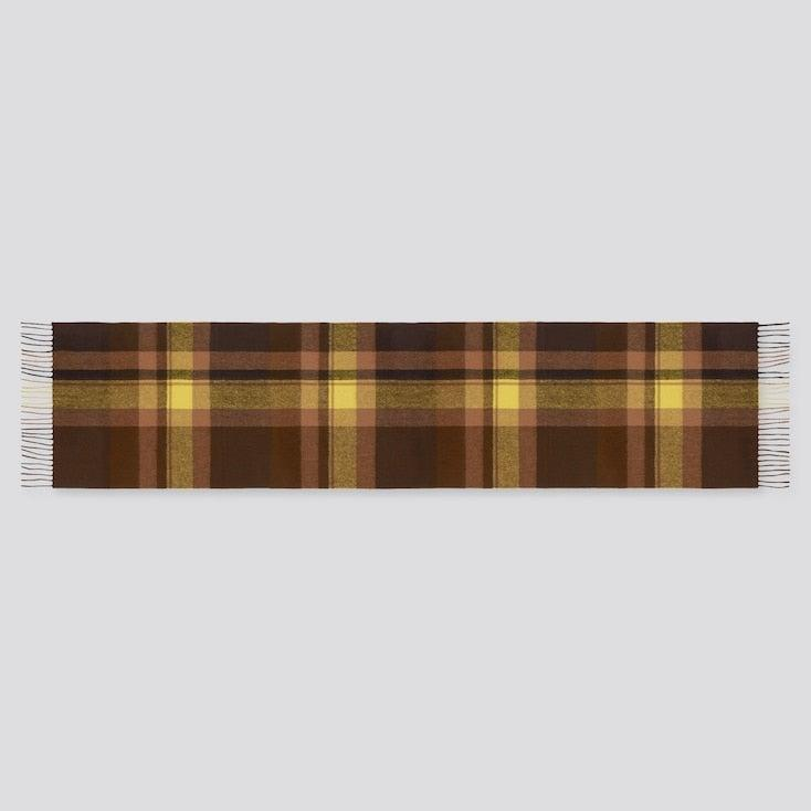 """<br><br><strong>Uniqlo</strong> Cashmere Checked Scarf, $, available at <a href=""""https://go.skimresources.com/?id=30283X879131&url=https%3A%2F%2Fwww.uniqlo.com%2Fus%2Fen%2Fcashmere-checked-scarf-429501.html%3Fdwvar_429501_color%3DCOL38"""" rel=""""nofollow noopener"""" target=""""_blank"""" data-ylk=""""slk:Uniqlo"""" class=""""link rapid-noclick-resp"""">Uniqlo</a>"""