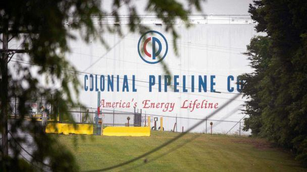 PHOTO: A Colonial Pipeline storage site in Charlotte, N.C., May 12, 2021. (Logan Cyrus/AFP via Getty Images)