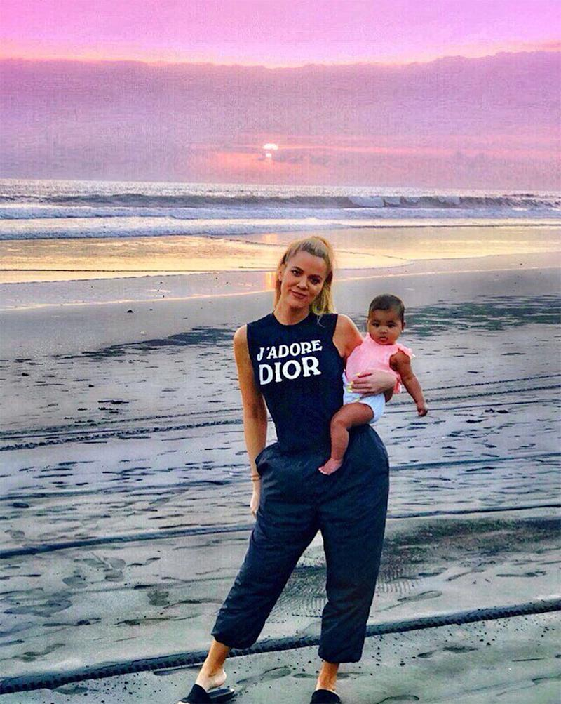 Khloé Kardashian Shares New Bali Photo: 'Thankful for the Memories Baby True and I Are Creating'