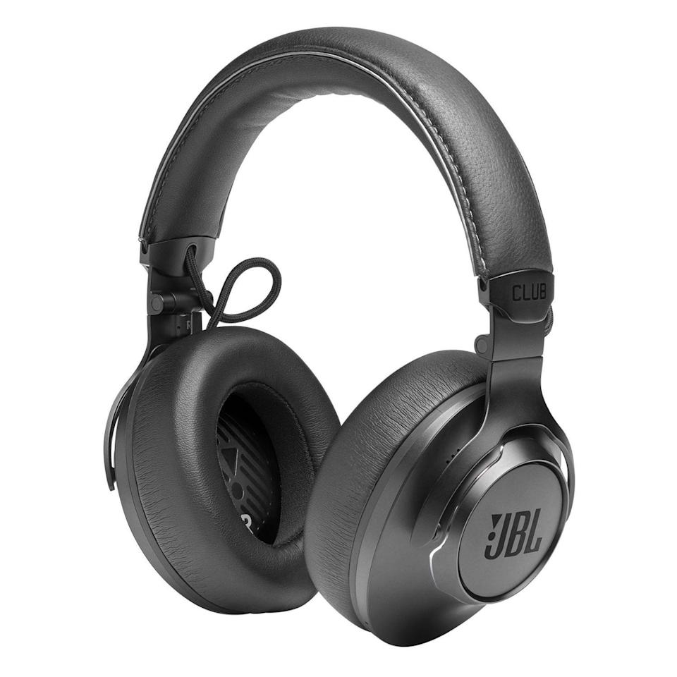 """<p><strong>JBL</strong></p><p>amazon.com</p><p><strong>$249.95</strong></p><p><a href=""""https://www.amazon.com/dp/B084HNNYWB?tag=syn-yahoo-20&ascsubtag=%5Bartid%7C2089.g.37113159%5Bsrc%7Cyahoo-us"""" rel=""""nofollow noopener"""" target=""""_blank"""" data-ylk=""""slk:Shop Now"""" class=""""link rapid-noclick-resp"""">Shop Now</a></p><p><strong>Key Features</strong><br><br>• 40-millimeter audio drivers with JBL Pro sound<br>• Adaptive noise cancellation with Ambient Aware and TalkThru modes<br>• Up to 45 hours of battery life (25 hours with noise cancellation)<br>• JBL companion app</p><p>The range-topping JBL Club One noise-canceling headphones are worth their hefty price tag because they are equally amazing for wired and wireless use. In addition to a futureproof Bluetooth 5.0 connectivity, they rock a pair of wired inputs (one in each cup). Their retail package includes a duo of bundled audio cables (a coiled one for professional use and a shorter one with a built-in remote), as well as a 6.3-millimeter audio adapter, to name a few accessories. </p><p>Inspired by professional headsets, the Club One design is timelessly cool. They're certainly a splurge item, but considering the headset's craftsmanship and overall audio performance, they're some of the best JBL headphones money can buy.<br><br>If you like the design but are looking for more compact headphones, consider the <a href=""""https://www.amazon.com/dp/B084HNMGWD?tag=syn-yahoo-20&ascsubtag=%5Bartid%7C2089.g.37113159%5Bsrc%7Cyahoo-us"""" rel=""""nofollow noopener"""" target=""""_blank"""" data-ylk=""""slk:cheaper JBL Club 700"""" class=""""link rapid-noclick-resp"""">cheaper JBL Club 700</a> instead.</p><p><strong>More: </strong><a href=""""https://www.bestproducts.com/tech/a33449840/jbl-club-one-wireless-headphones-review/"""" rel=""""nofollow noopener"""" target=""""_blank"""" data-ylk=""""slk:Our Take on the JBL Club One Headphones"""" class=""""link rapid-noclick-resp"""">Our Take on the JBL Club One Headphones</a></p>"""