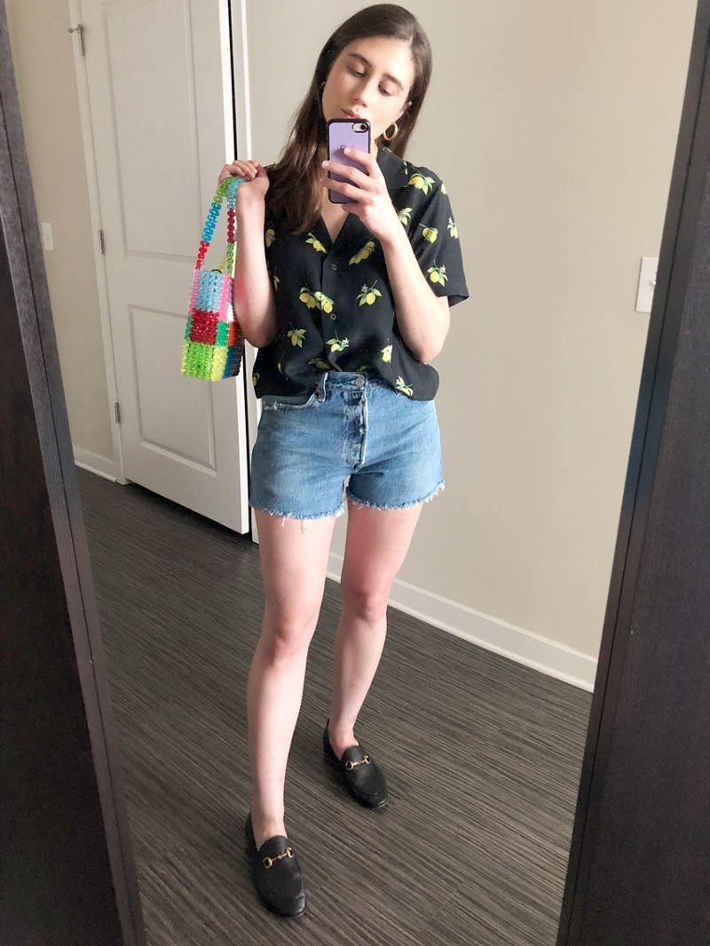 Shorts + Gucci loafers? You bet!