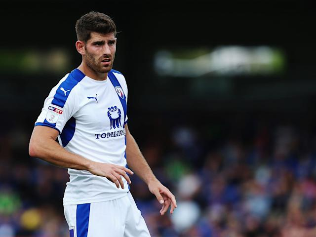 Ched Evans in action for Chesterfield: Getty