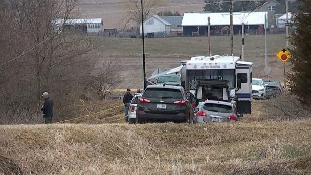 PHOTO: Authorities at the scene where the remains of 10-year-old Breasia Terrell, missing since last July, were found in late March 2021 in Iowa. (WQAD)
