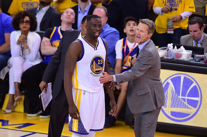 Steve Kerr is so ' tired of Draymond' Green, according to lip readers