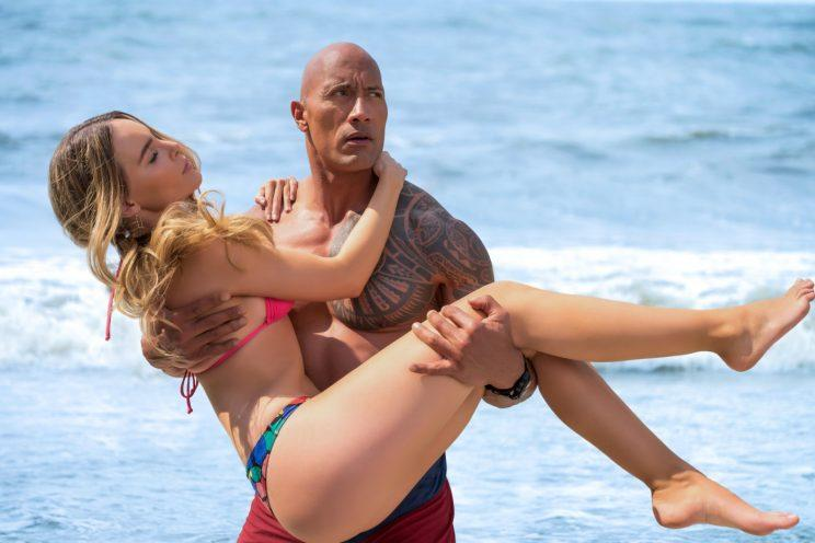 Dwayne 'The Rock' Johnson in 2017's 'Baywatch' (credit: Paramount)