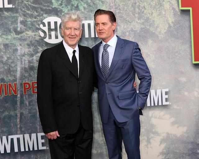 "David Lynch and Kyle MacLachlan at the L.A. premiere of ""Twin Peaks: The Return."" (Photo: Priscilla Grant/Everett Collection)"