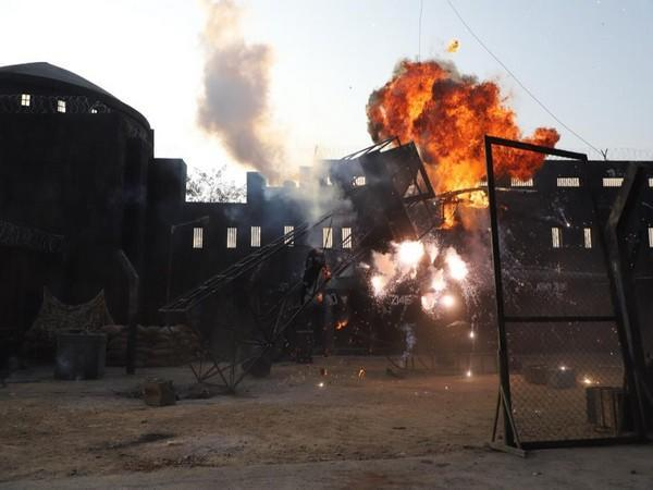 A still from the sets of 'OM: The Battle Within'