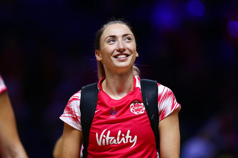 Jade Clarke was part of the bronze-medal winning side at this summer's Vitality Netball World Cup in Liverpool Picture by Alex Whitehead/SWpix.com