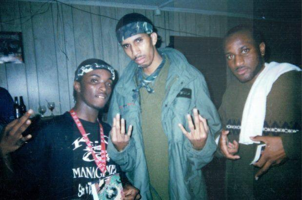 Mac Phipps (center) at Club Mercedes in Slidell, Louisiana. Arising star at the time, he was signed to Master P's No Limit Records alongside artists such as Snoop Dogg and Mystikal. (Photo: Sheila Phipps)