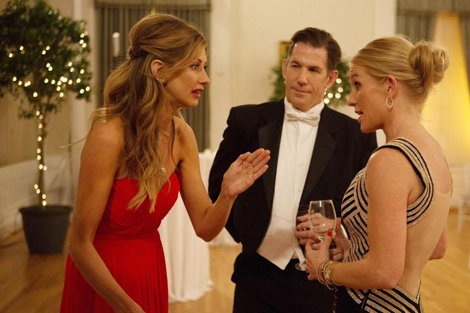 Thomas Ravenel, center, appears on a December episode of <em>Southern Charm</em> with Ashley Jacobs and Jennifer Snowden. (Photo: Paul Cheney/Bravo/NBCU Photo Bank via Getty Images)