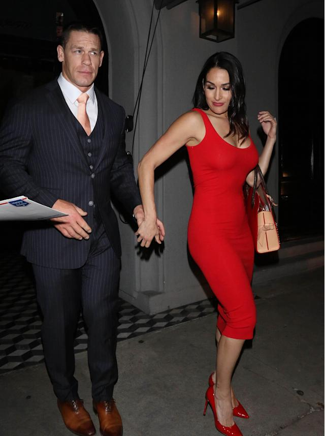 John Cena y Nikki Bella/Getty Images