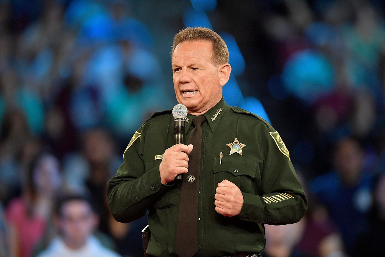 Broward County Sheriff Scott Israel speaks before the start of a CNN town hall meeting on Feb. 21 at the BB&T Center, in Sunrise, Florida. (Photo: Sun Sentinel via Getty Images)