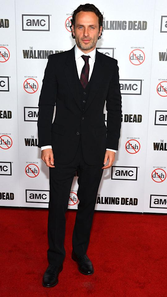 "Andrew Lincoln attends AMC's ""The Walking Dead"" Season 3 Premiere held at Universal CityWalk on October 4, 2012 in Universal City, California."