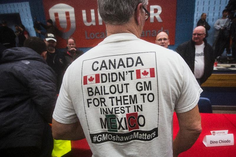 GM will save a least some Canadian jobs by reconfiguring a plant due to close at the end of the year (AFP Photo/Lars Hagberg)