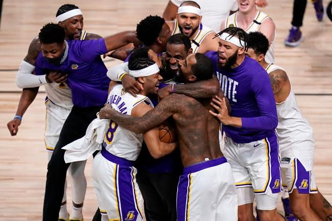 Los Angeles Lakers defeat Miami Heat in six games to win 17th NBA title all-time