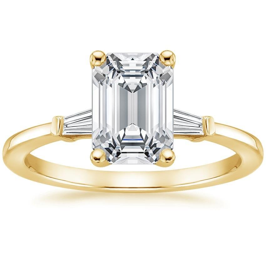 <p>The <span>Brilliant Earth 18K Yellow Gold Tapered Baguette Diamond Ring</span> ($1,490) is beyond stunning.</p>
