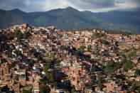 The Petare neighbourhood is seen during celebrations for the 400th anniversary of its founding in Caracas