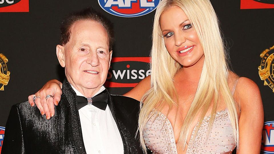 Geoffrey and Brynne Edelsten, pictured here at the Brownlow Medal in 2013.
