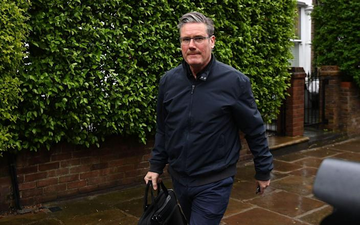 Labour party leader Keir Starmer departs his home in London - ANDY RAIN/EPA-EFE/Shutterstock