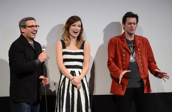 "Actors Steve Carell, actress Olivia Wilde and actor Jim Carrey speak on stage at the world premiere of ""The Incredible Burt Wonderstone"" during the 2013 SXSW Music, Film + Interactive Festival at the Paramount Theatre on March 8, 2013 in Austin, Texas."