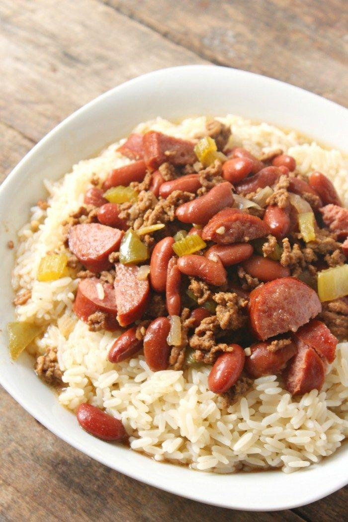 """<p>Red beans, rice, and ground beef are such an easy combo, but taste so great together!</p><p>Get the recipe from <a href=""""http://simplesweetrecipes.com/louisiana-red-beans-and-rice/"""" rel=""""nofollow noopener"""" target=""""_blank"""" data-ylk=""""slk:Simple Sweet Recipes"""" class=""""link rapid-noclick-resp"""">Simple Sweet Recipes</a>.</p>"""