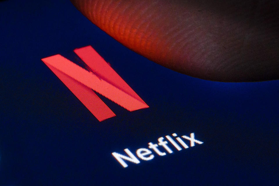 BERLIN, GERMANY - APRIL 22: The logo of the streaming provider Netflix is shown on the display of a smartphone on April 22, 2020 in Berlin, Germany. (Photo by Thomas Trutschel/Photothek via Getty Images)