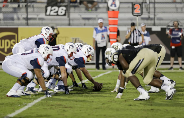UConn has won two of its last three games against UCF. (AP Photo/John Raoux)