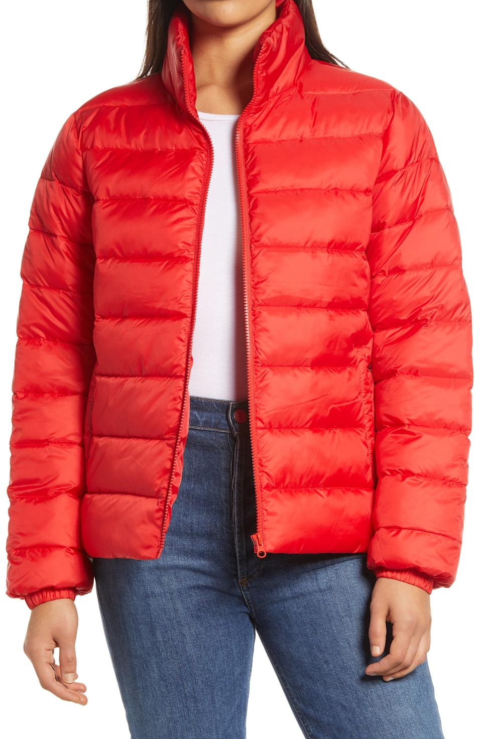 Zip Puffer Coat. Image via Nordstrom.