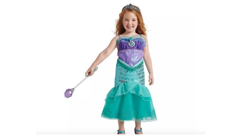 A Little Mermaid costume that looks great on land and under the sea.