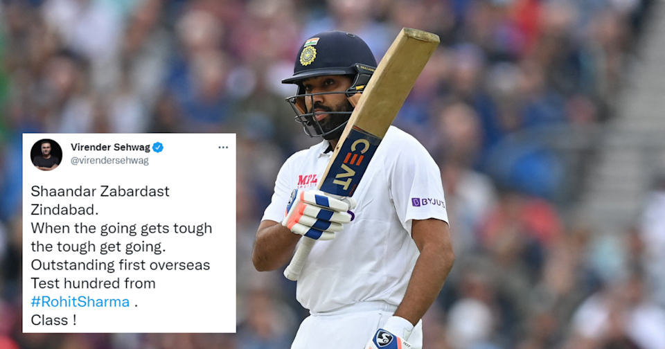 Twitter Celebrates Rohit Sharma's First Test Century Away From Home