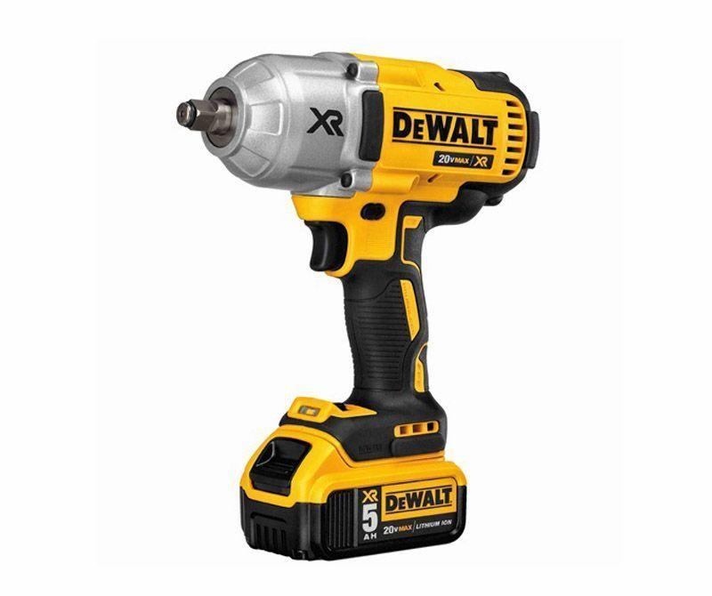 """<p><strong>DEWALT</strong></p><p>amazon.com</p><p><strong>$420.06</strong></p><p><a href=""""https://www.amazon.com/dp/B00FREST98?tag=syn-yahoo-20&ascsubtag=%5Bartid%7C10060.g.2028%5Bsrc%7Cyahoo-us"""" rel=""""nofollow noopener"""" target=""""_blank"""" data-ylk=""""slk:Buy Now"""" class=""""link rapid-noclick-resp"""">Buy Now</a></p><p>• Power: 20-V<br>• Drive size: ½-in.<br>• Motor: Brushless<br>• RPM: 1,900<br>• IPM: 2,400<br>• Torque: 700 ft-lb<br>• Battery: 5-Ah (x2)</p><p>We could tell the DeWalt 20V Max XR was a beast when we picked it up. High-torque impact wrenches tend to weigh more because they have beefier components required to handle the forces involved in transferring all that torque. This is no exception and weighs 7.2 pounds with one of the two big 5-Ah batteries clipped to the bottom—the heaviest impact wrench in the test. The weight does give the impression it's well built and can take some abuse though. Removing the lug nuts on the F-250 Super Duty we brought in was seemingly effortless, the Max XR breaking them free in a fraction of a second. We tried it in all three speed settings, with the highest removing them the fastest. We had to get a feel for when to back off the trigger and let the tool's momentum spin the nut off—do it too late and the nut could run off the stud at high RPM and fly out of the socket. Working on the rusty farm implement felt like a perfect job for the Max XR. The rusted nuts and bolts were no match for it—the only issue was being able to reach a couple of them because of the size of the wrench. DeWalt's high-torque impact wrench would be a natural fit for auto/truck/tractor repair out in the field or on the roadside.</p>"""
