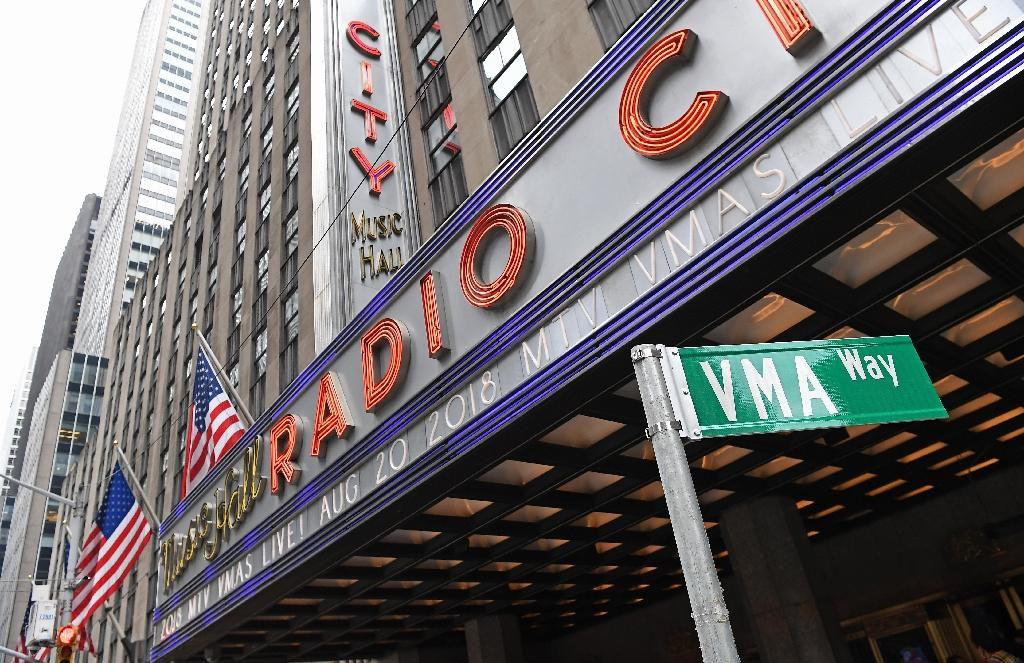 Radio City Music Hall in New York, where the 2018 MTV Video Music Awards will return and air live in August (AFP Photo/ANGELA WEISS)