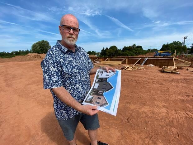 Developer Tim Banks says there's no basis for the stop-work order city officials issued last week for his Sherwood Crossing project. (Kirk Pennell/CBC - image credit)
