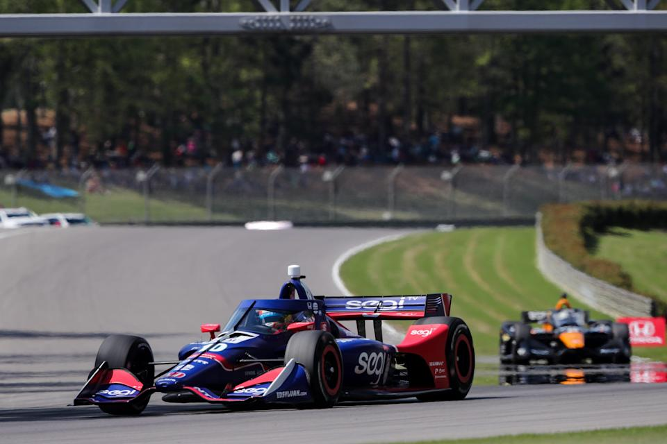 Alex Palou landed his first IndyCar victory Sunday at Barber Motorsports Park, riding a two-stop strategy to edge out Will Power.