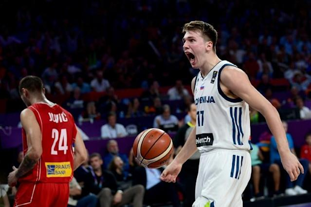 Luka Doncic helped Slovenia beat Serbia in the 2017 European final (AFP Photo/OZAN KOSE)