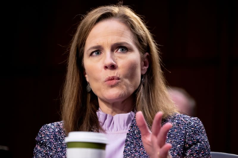 FILE PHOTO: Senate holds confirmation hearing for Amy Coney Barrett to be Supreme Court Justice
