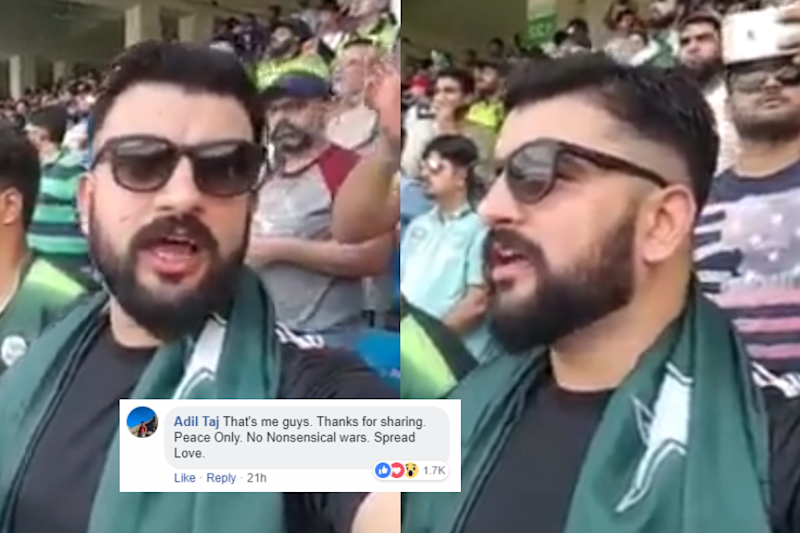 Video of Pakistani Man Singing Jana Gana Mana at India-Pak Match is Winning Hearts Everywhere