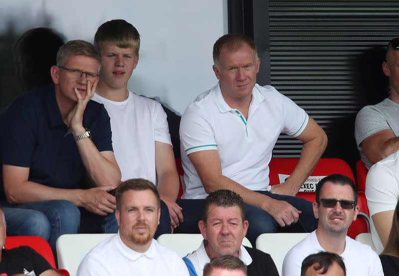 Salford City co-owner Scholes appointed caretaker manager