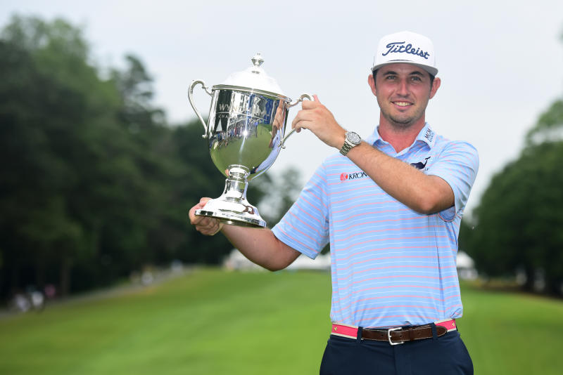 J.T. Poston, who didn't make a bogey all week, held on Sunday to grab his first PGA Tour win at the Wyndham Championship.